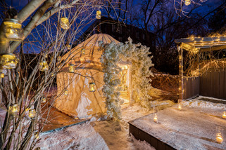 Proposal, Love, Engagement, Decor, Romantic, Lanterns, Candles, Backyard, Home, Night Time, Yurt