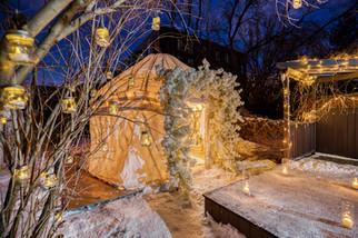 Proposal, Love, Engagement, Decor, Romantic, Lanterns, Candles, Backyard, Home, Night Time, Yurt
