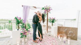 Muskoka, Flowers, Rose Petals, Candles, Love, Purple, View, JW Mariott, She Said Yes