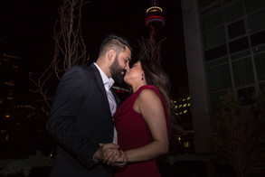 Proposal, Love, Engagement, Decor, Romantic, Lanterns, Candles, City, Night Time, Cntower