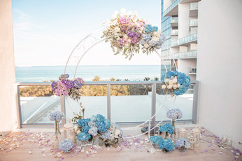 Rooftop, The W, Marry Me, Arch, Proposal, View, Miami, Love, Rose Petals, Flowers