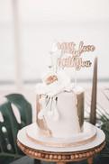 Proposal Cake, Romantic, Gold, Beautiful