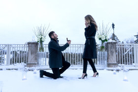 Winter, Candles, Snow, Flowers, Golf Course, Winter Wonderland, I Do, On One Knee, The Moment
