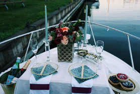 Boat, Water, River, Lake, Flowers, Candles, Champagne, Wine, Food, Hors D'oeuvres, Appitizer, Cruise, Beautiful, Nature, Proposal