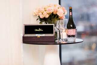 Flowers, Roses, Pink, Blush, Proposal, Bouquet, Champagne, Romantic, Box, Eternity Rose, Everlasting
