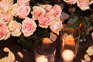 Flowers, Roses, Pink, Blush, Proposal, Bouquet, Candles, Romantic
