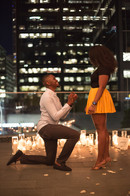 Proposal, Love, Engagement, Decor, Romantic, Lanterns, Candles, City, Night Time, Pop The Question
