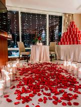 Flowers, Roses, Red, Proposal, Bouquet, Candles, Romantic, City, Presents, Aisle
