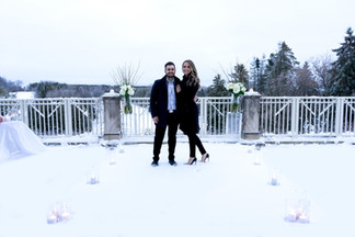 Winter, Candles, Snow, Flowers, Golf Course, Winter Wonderland, She Said Yes
