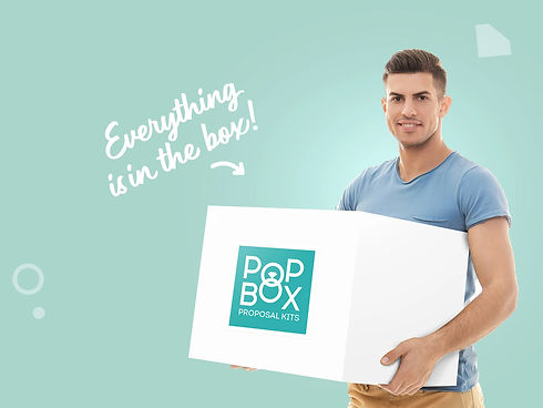 Pop Box Proposals, Proposal In A Box, Proposal Kit, Man Holding Proposal Box, Everyting Is In The Box