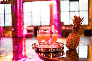 Staff Party, Holiday Party, Tropical, Bright Lights, Flamingo, Cocktail Party, Pineapple, Mimosa