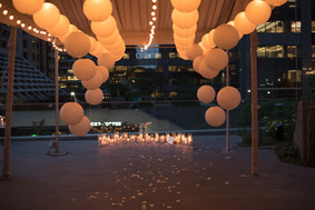 Proposal, Love, Engagement, Decor, Romantic, Lanterns, Candles, City, Night Time