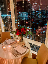 Flowers, Roses, Red, Proposal, Bouquet, Candles, Romantic, City