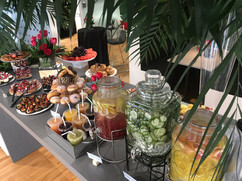 Grand Opening, Tropical, Greenery, Chacuterie, Snacks