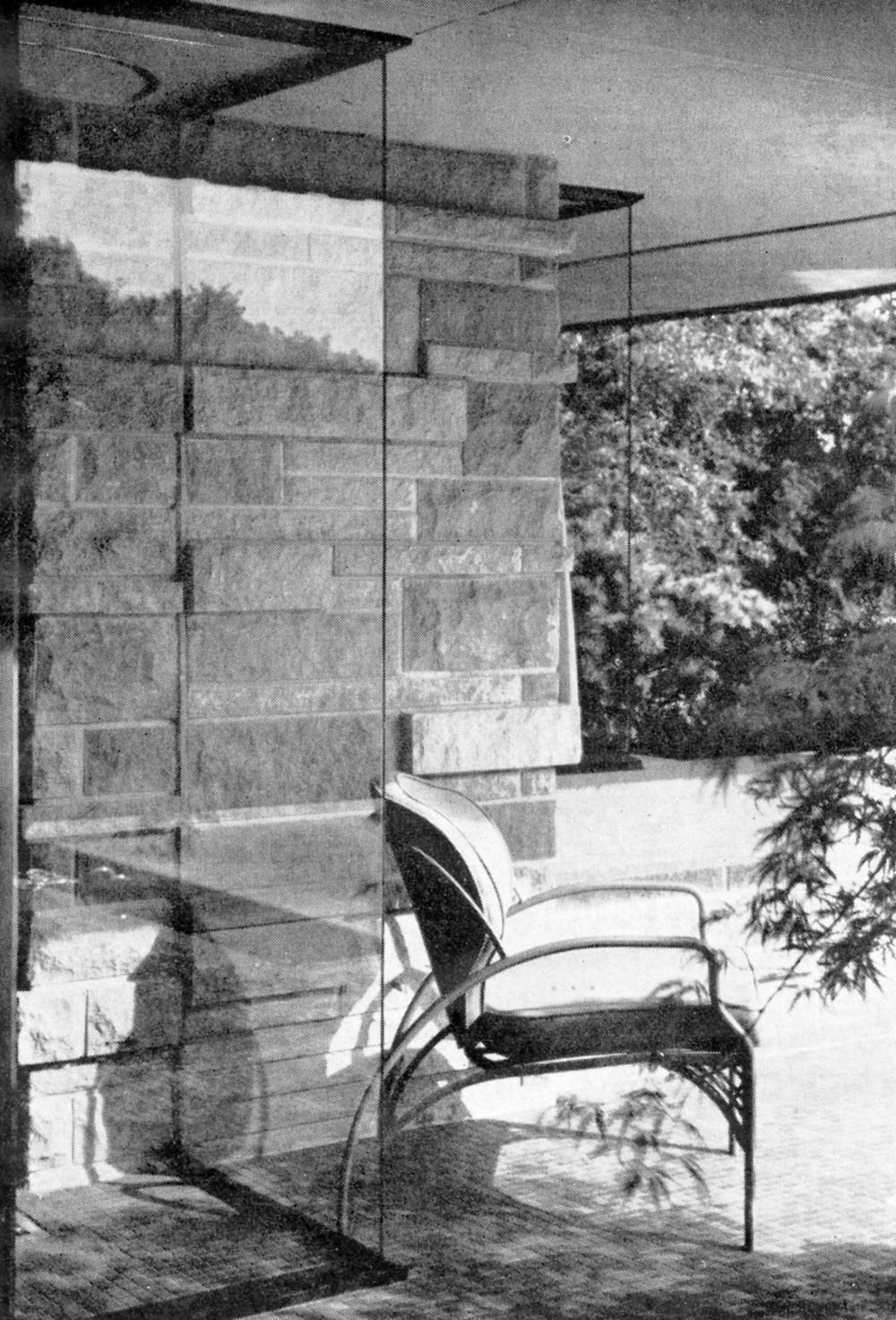 Interior view facing the porch
