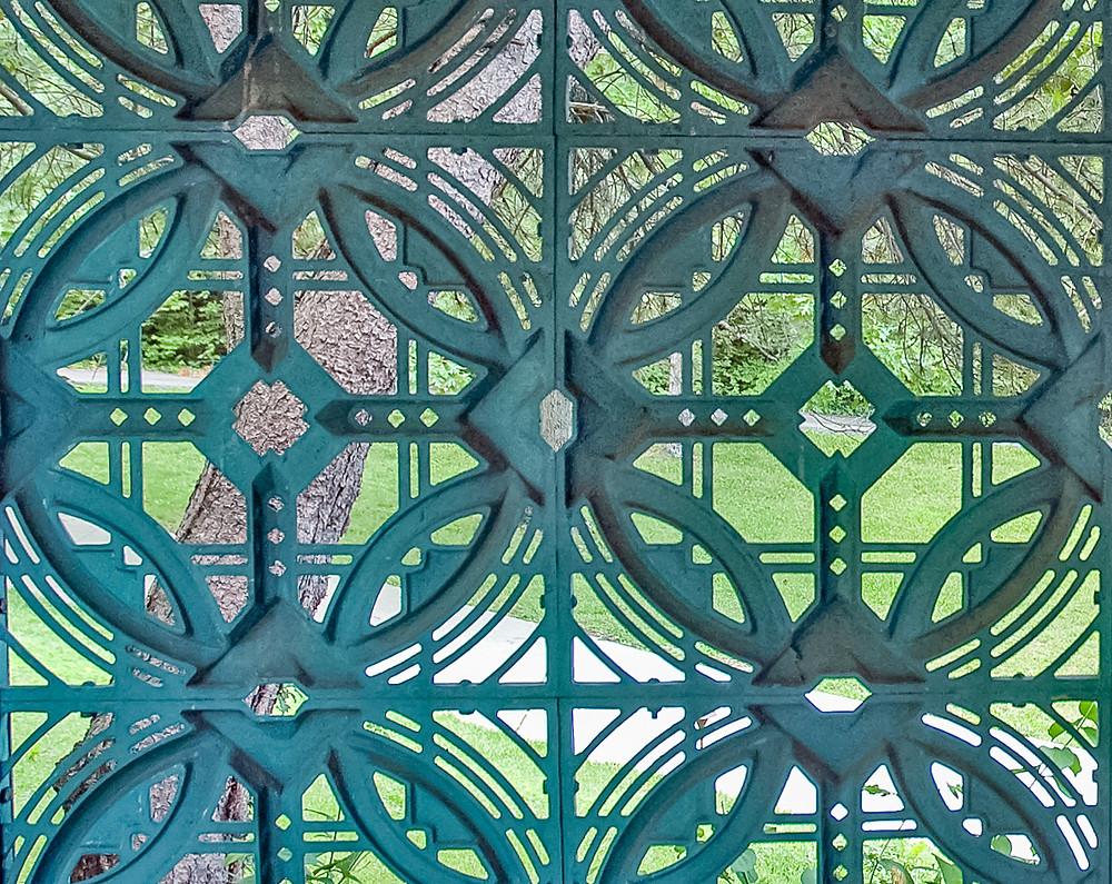 Detail of aluminum screen motif