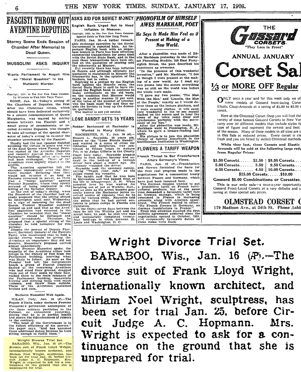The New York Times (July 17, 1926)