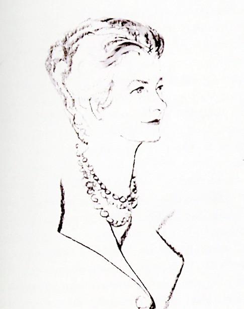Portrait drawing of Elizabeth Gordon
