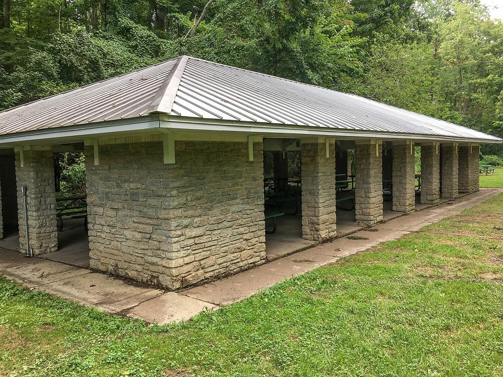 Open Shelter Pavilion in Burnet Woods Park
