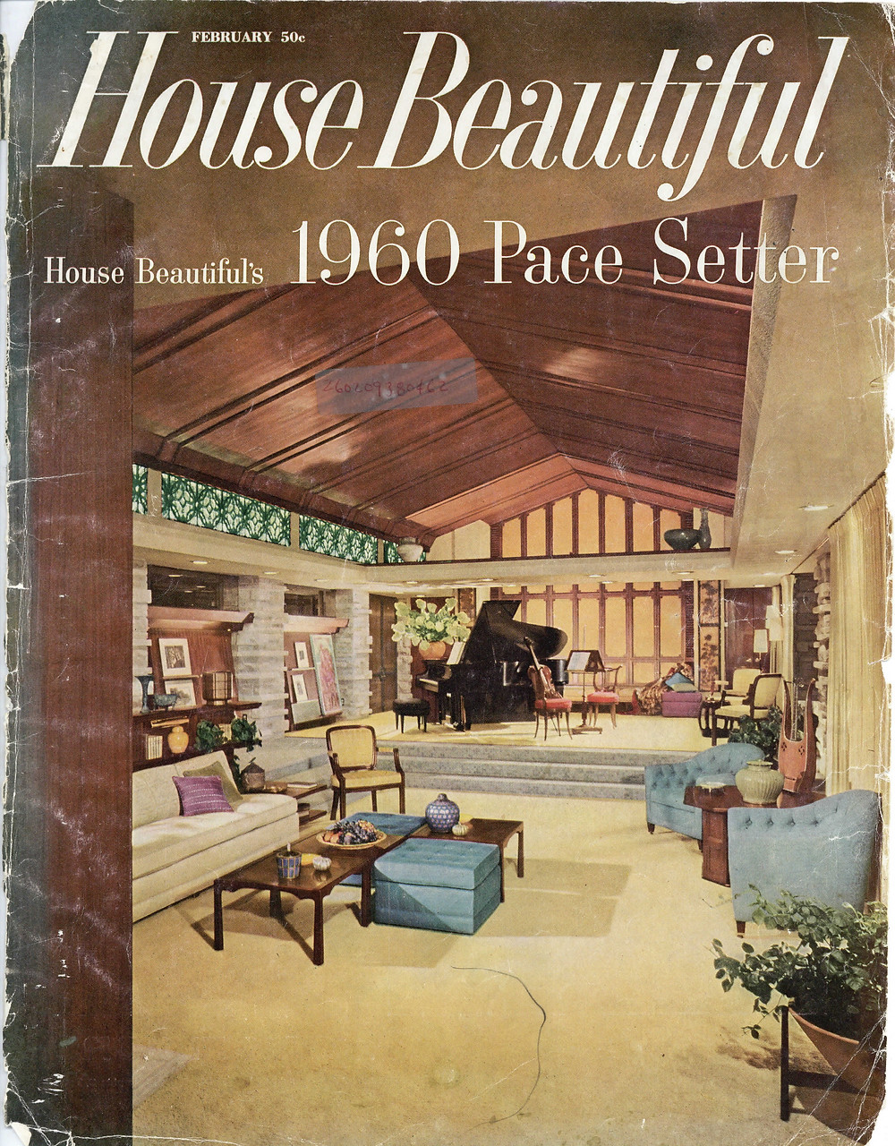 Cover of House Beautiful featuring Corbett House (February 1960)
