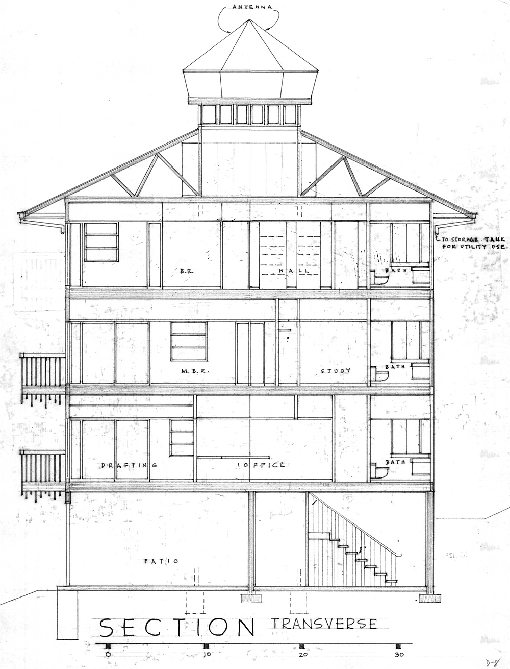 Section of Benjamin and Shirley Dombar House