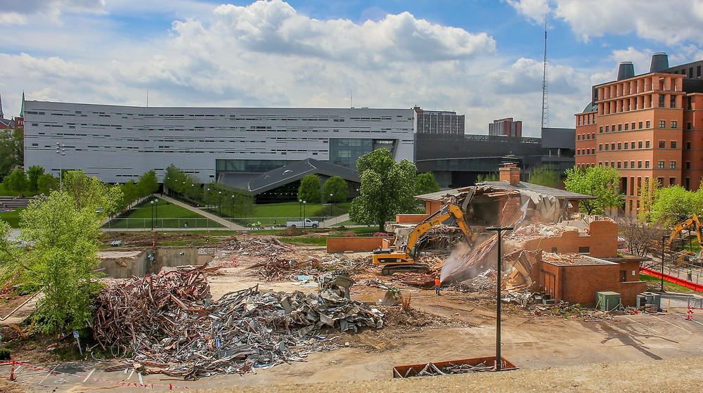Demolition of University of Cincinnati Faculty - Alumni Center