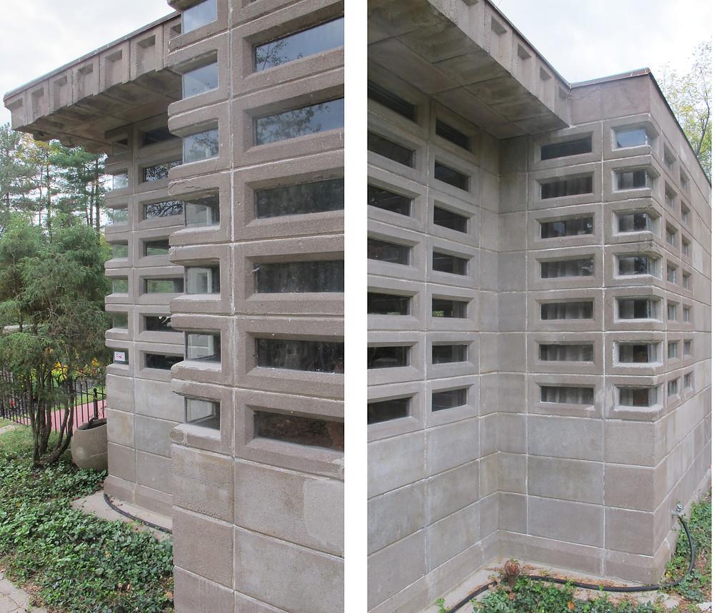 Detailsof corner windows