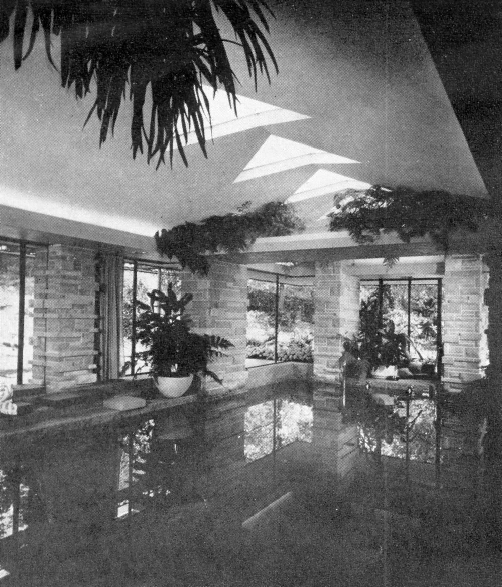 Interior view of swimming pool wing