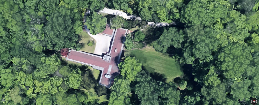 Boswell house aerial view
