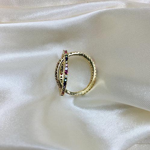 Golden Rainbow Slim Fit Ring