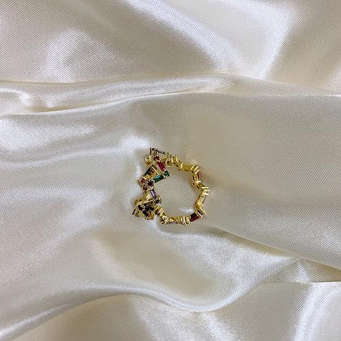 Golden Zig Zag Rainbow Ring