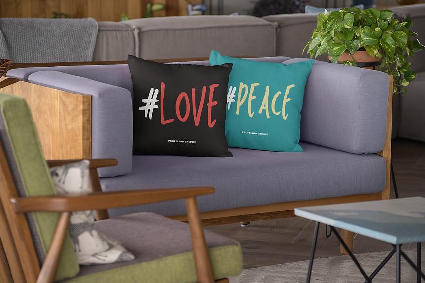 Professor Credo® #Love #Peace Pillows