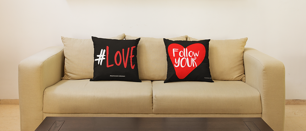 Professor Credo® Love and Heart Pillows