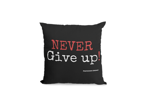 NEVER GIVE UP Pillow