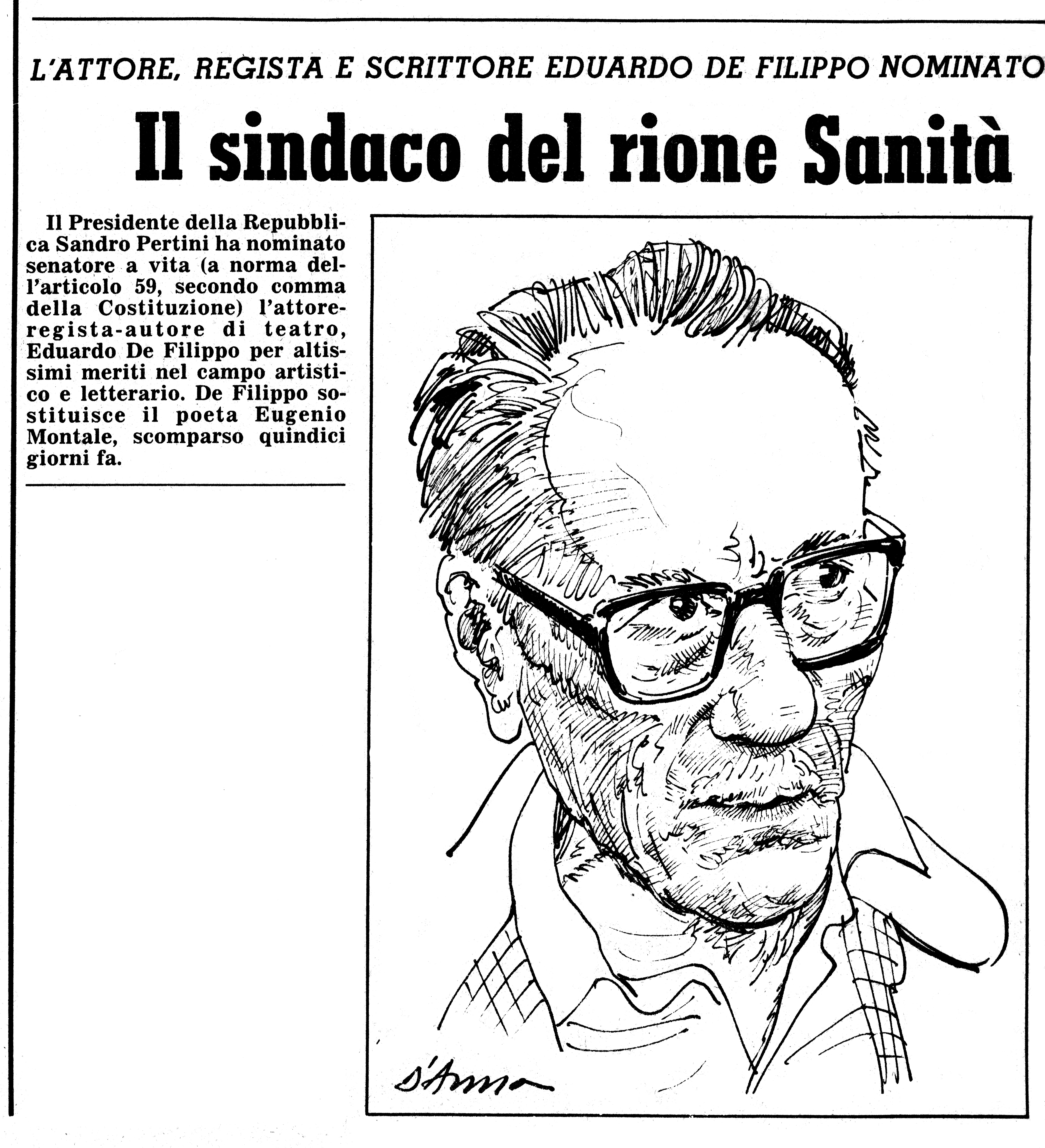 De Filippo. Il Lavoro 27-9-1981