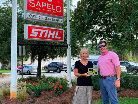Community Clean Sweep Award Presented to Sapelo Equipment Co.