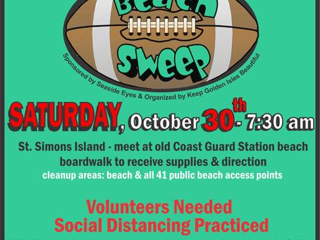 14th annual Community Beach Sweep slated for GA/FL football weekend
