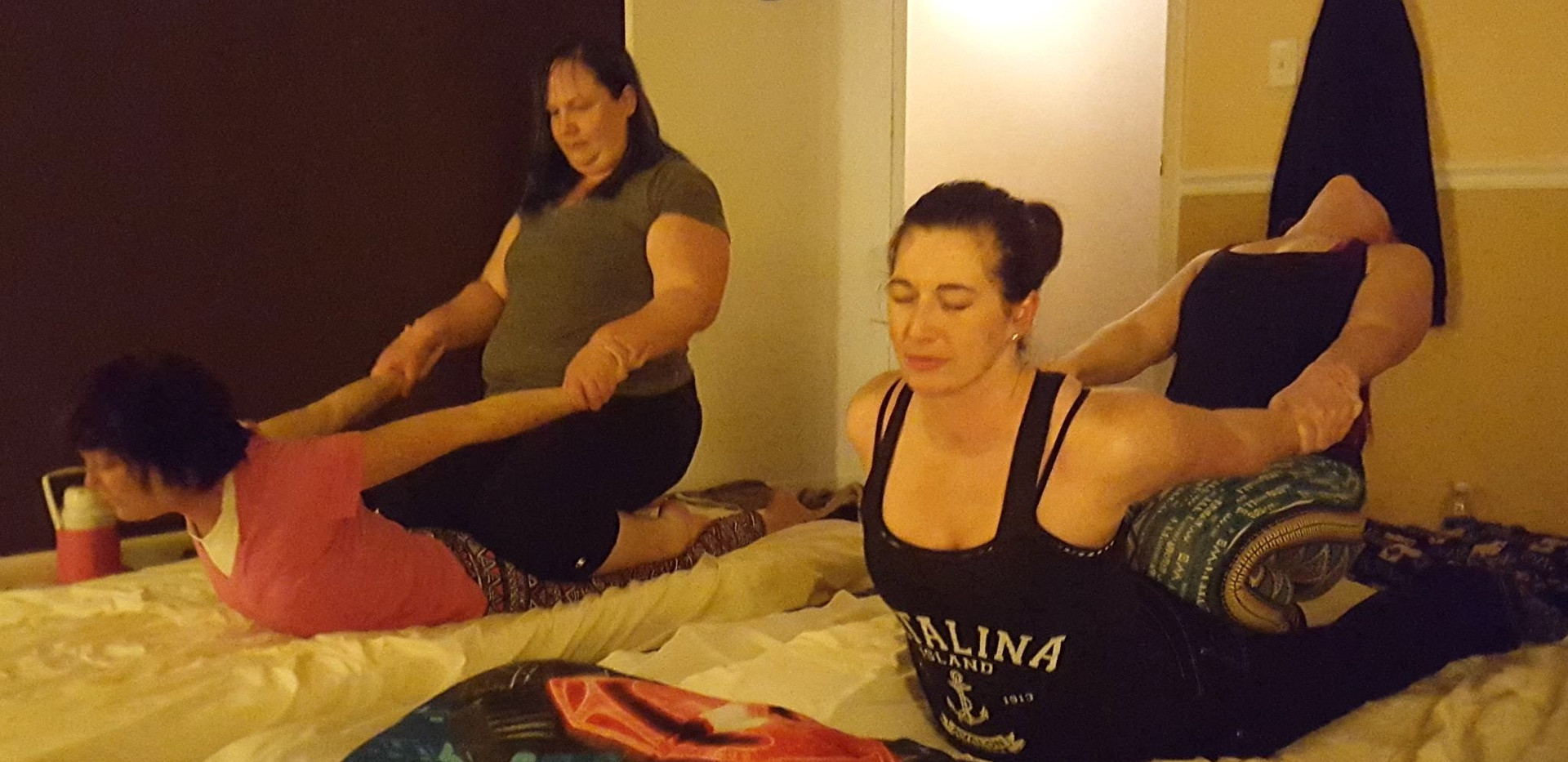 Thai Yoga Massage Class, cobra pose