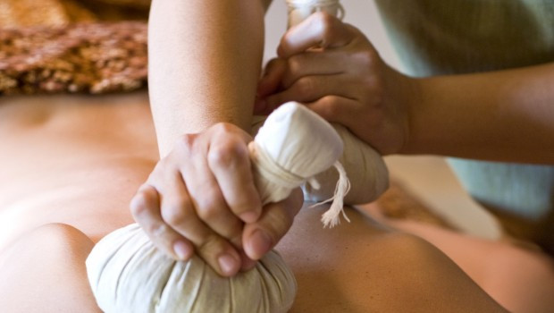 Hot Herbal Compress Massage