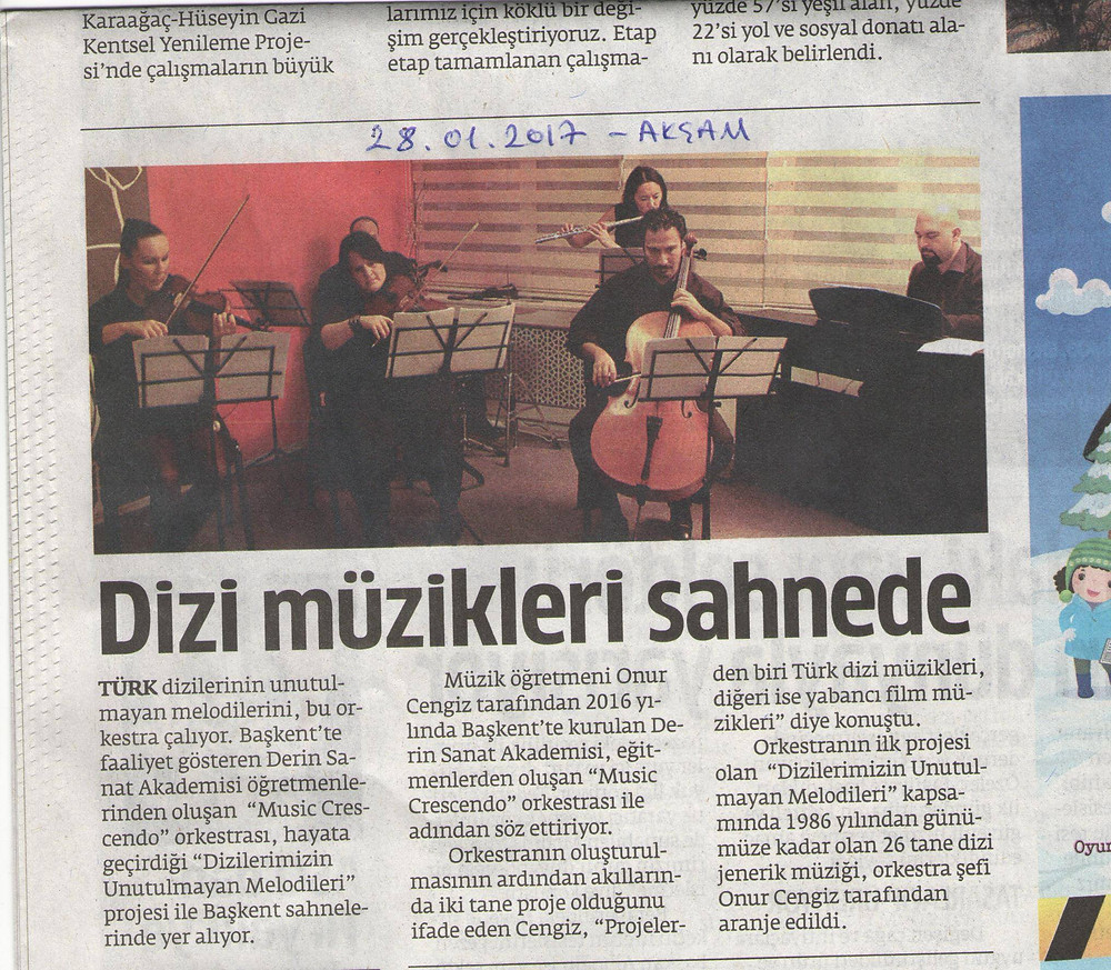Music Crescendo ile Türk Dizi Müzikleri Konseri