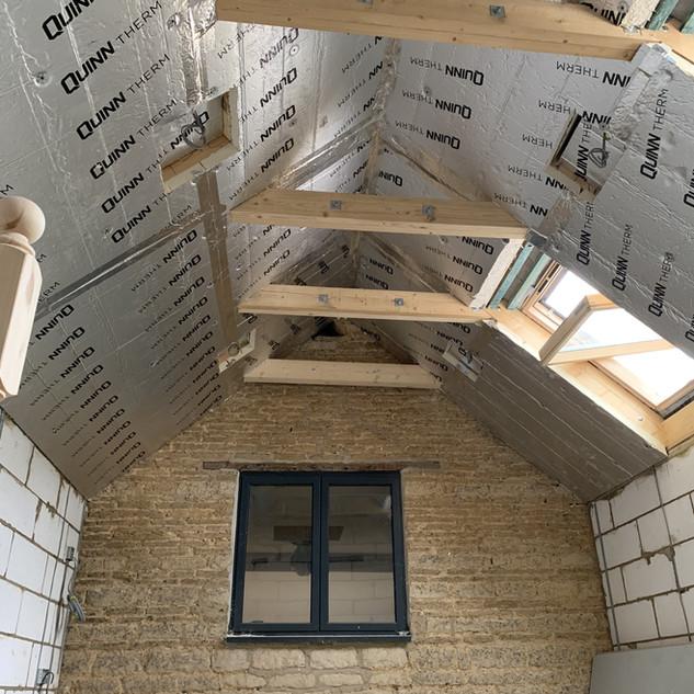 Barn extension first fix