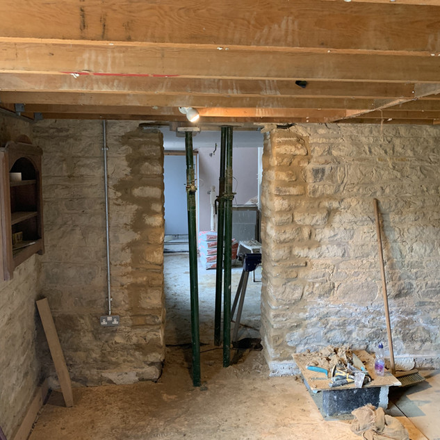 Barn extension new opening