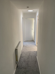 Hallway with new sun pipe