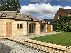 Single storey extension / new build garage-sun room