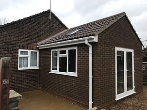 Construct single storey extension to form dining room