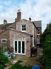 Brick built two storey period property extension, to create larger kitchen diner space - bigger bedroom space and W/C    