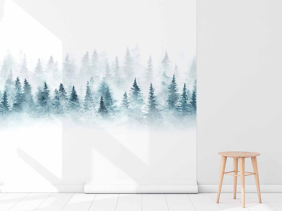Papel Mural Bosque Acuarelado