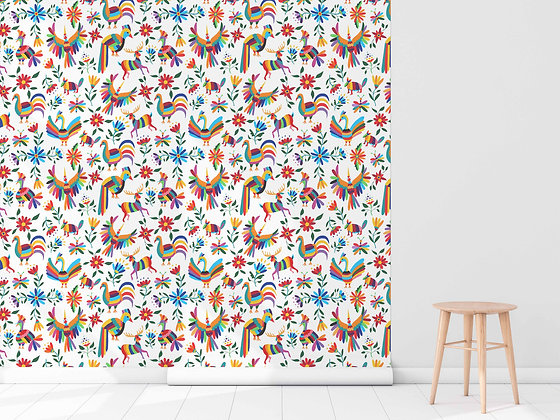 Papel Mural Animales colores
