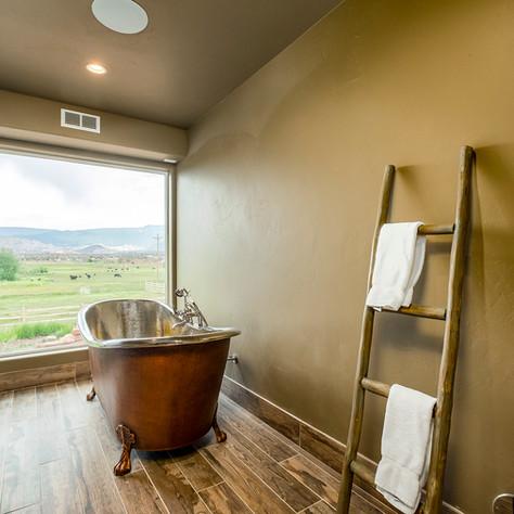 Copper Soaking Tub in Spa