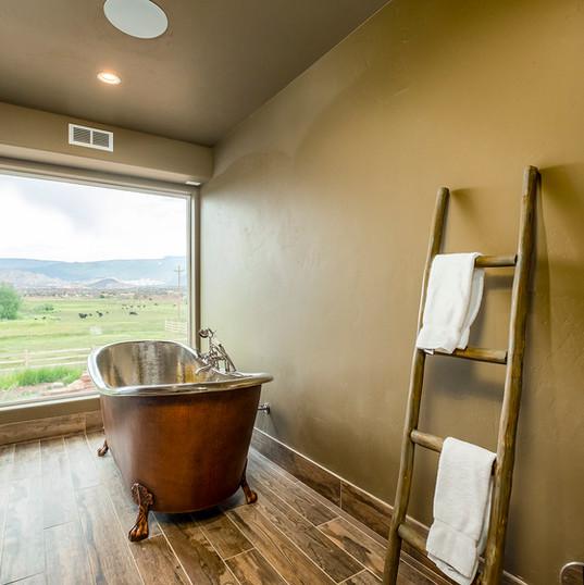 Copper Tub Bath in Spa